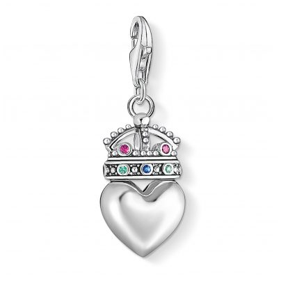 Thomas Sabo 1544-498-7 Charm Pendant Heart with Crown 4051245374155