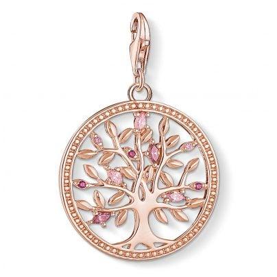 Thomas Sabo 1700-626-9 Charm Pendant Tree of Love Rose 4051245403442