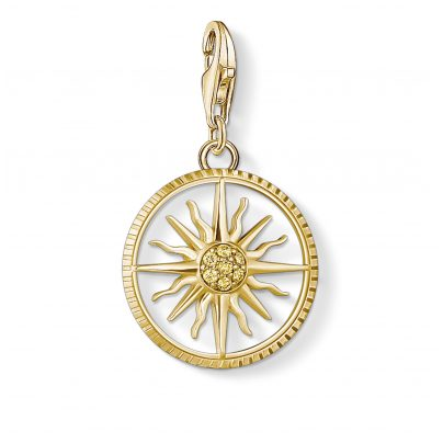 Thomas Sabo 1765-414-4 Charm-Anhänger Sonne Goldfarben 4051245433753