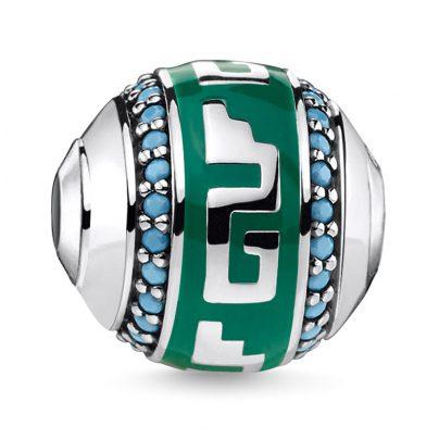 Thomas Sabo K0295-344-6 Bead Ornament Green/Turquoise 4051245373240
