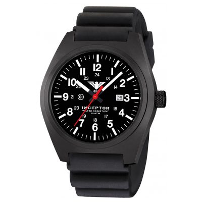KHS INCBS.DB Men's Wristwatch Inceptor Black Steel 4260446984036