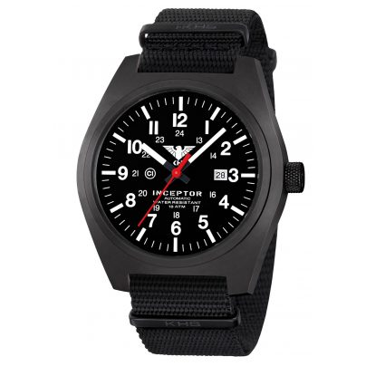 KHS KHS.INCBSA.NB Automatik-Herrenuhr Inceptor Black Steel Automatic 4260446986177