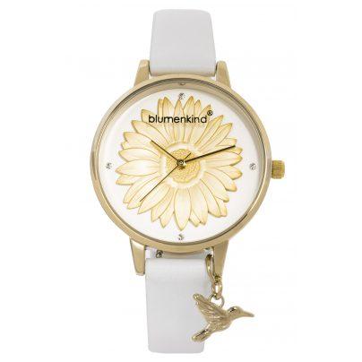 Blumenkind 04091981GWHPWH Damenarmbanduhr Gold/Weiß 9120044243476