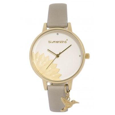 Blumenkind 13121989GWHPGR Ladies' Wristwatch Pennsylvania Gold/Cashmere Grey 9120044243636