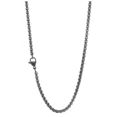 Traumfänger SC063GR Edelstahl Damen-Halskette Grau