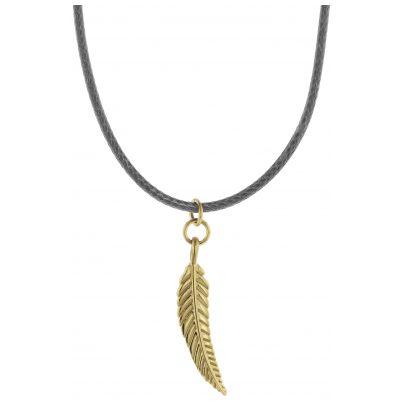 Traumfänger TFP03GOGR Damen-Halskette Petit Feder grau/gold 9120044241342