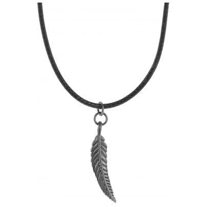 Traumfänger TFP03GRBK Halskette Petit Feder schwarz/grau 9120044241359
