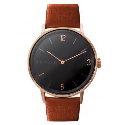 Kanske Denmark 324 Armbanduhr Sincere Matt Roségoldfarben/Braun 5714094000178