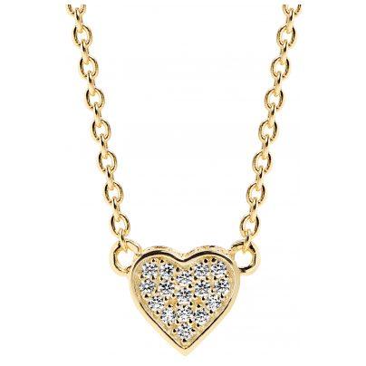 Sif Jakobs Jewellery SJ-C2185-CZ(YG) Halskette Herz-Anhänger Amore Uno 5710698057259