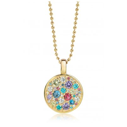 Sif Jakobs Jewellery SJ-P1036-XCZ(YG)/70 Silber Damencollier Novara Vergoldet 5710698060648