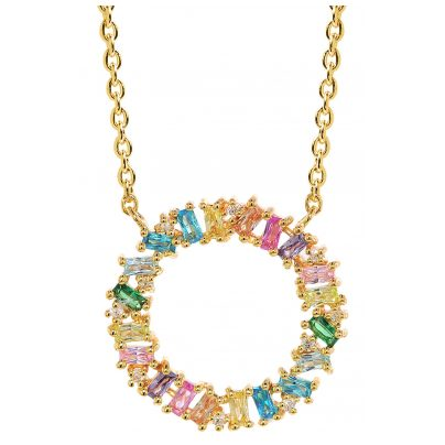 Sif Jakobs Jewellery C0163-XCZ(YG) Ladies´ Necklace Antella Circoko Grande Silver 5710698065957