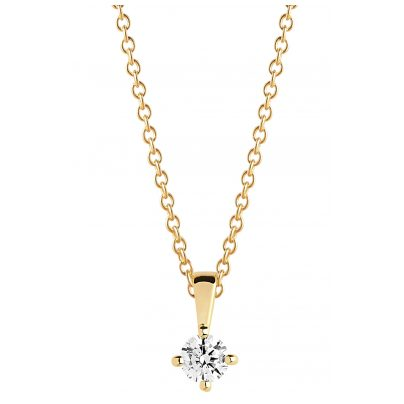 Sif Jakobs Jewellery SJ-P4MMRD-CZ-YG-45 Ladies´ Necklace Princess Piccolo Gold-Plated 5710698067388