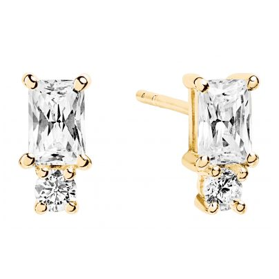 Sif Jakobs Jewellery SJ-E1299-CZ(YG) Earrings Antella Piccolo Gold 5710698047649