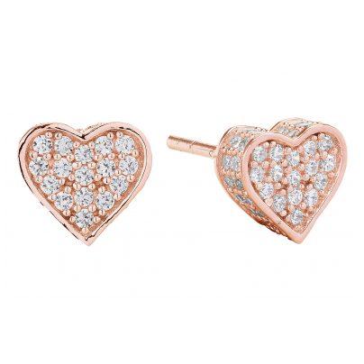 Sif Jakobs Jewellery SJ-E2185-CZ(RG) Herz-Ohrringe Amore Rosé 5710698046055