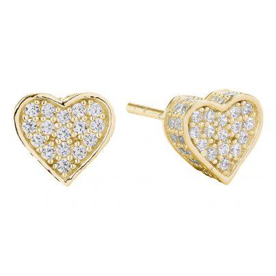 Sif Jakobs Jewellery SJ-E2185-CZ(YG) Ohrringe Herz Amore 5710698057235