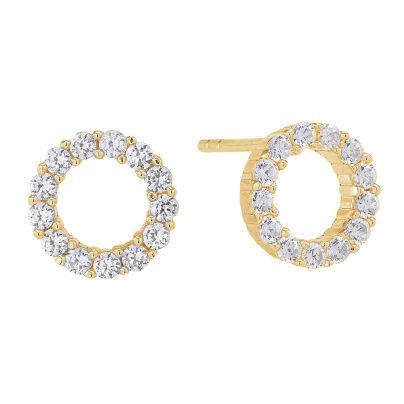 Sif Jakobs Jewellery SJ-E337-CZ(YG) Ohrringe Biella Uno Piccolo 5710698046956