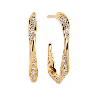 Sif Jakobs Jewellery SJ-E3010-CZ-YG Damen-Creolen Cetara Piccolo 5710698065292