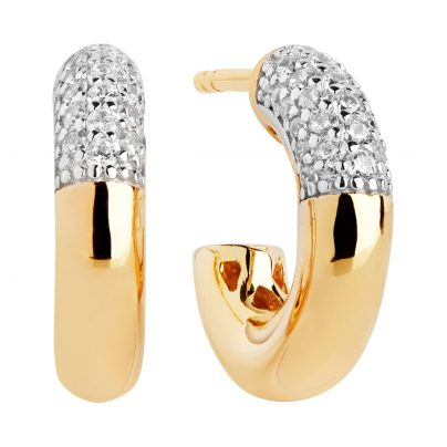 Sif Jakobs Jewellery SJ-E2998-CZ-YG Hoop Earrings Cannara Piccolo Gold-Plated 5710698068309