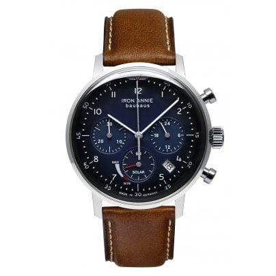 Iron Annie 5086-3 Solar Herrenuhr Chronograph Bauhaus Lederband braun 4041338508635