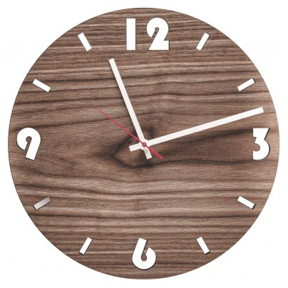 Huamet U1001 Wood Wall Clock Walnut Round 4260497085744