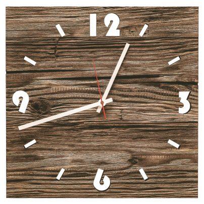 Huamet U6000 Wood Wall Clock Old Wood Square 4260497085836