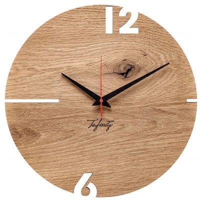 Huamet CT50-A-00 Wall Clock Puhr Oak Wood 4260497088691