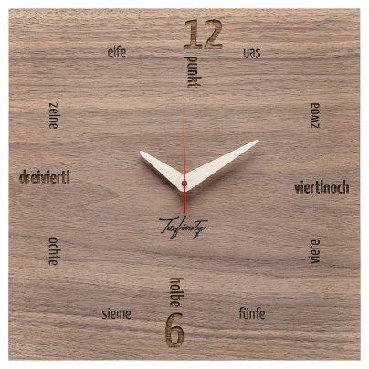 Huamet CA11-B-01 Wall Clock Kultuhr Dialect Walnut 4260497088752