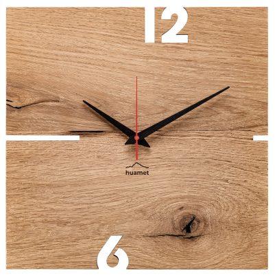 Huamet CH51-A-00 Wall Clock Puhr Oak Wood 8058265370026