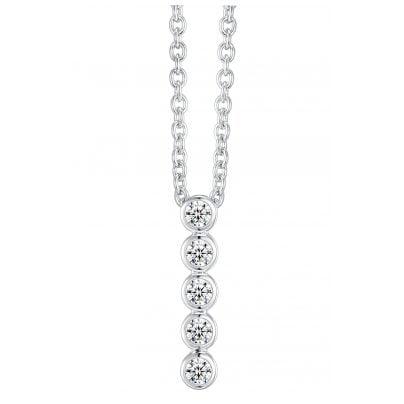 IUN Silver Couture AN005-WW Collier Silber 925 Zirkonia 4260626560043