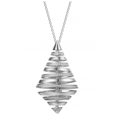 IUN Silver Couture PS01119A1-WW Collier New Wave Silber 925 Zirkonia 4260626560173