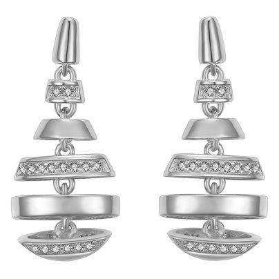 IUN Silver Couture ES01136A1-WW Ohrringe New Wave Silber 925 Zirkonia 4260626560272