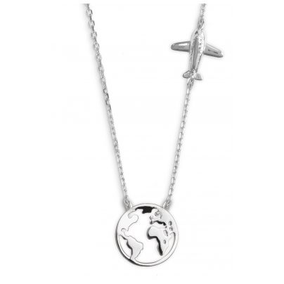 Xenox XS3161 Damen Silber-Halskette Wanderlust 9010050055234