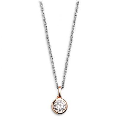 Xenox XS7284R Damen-Halskette Silver Circle Z Rosé 9010050007462