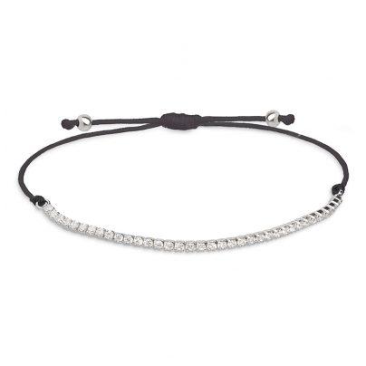 xenox damen armband crazy daisy schwarz xs1689. Black Bedroom Furniture Sets. Home Design Ideas