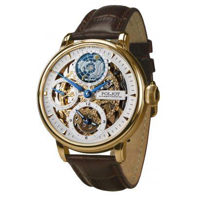 Poljot International 9730.2940651 Herren-Armbanduhr Double Timer Globetrotter 4260479166256