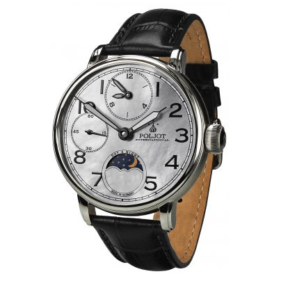 Poljot International 9120.2940335 Herrenuhr Doubletimer 4260479166041
