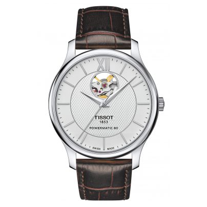 Tissot T063.907.16.038.00 Men's Watch Tradition Automatic Open Heart 7611608278567