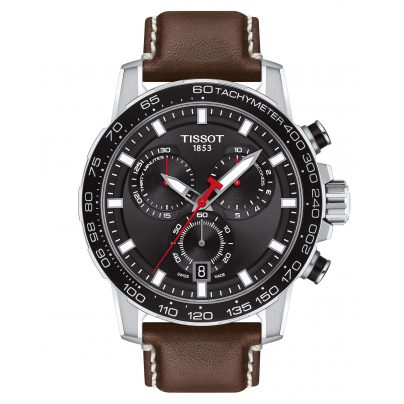Tissot T125.617.16.051.01 Herrenuhr Supersport Chrono mit braunem Lederband 7611608294482
