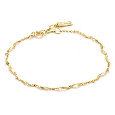 Ania Haie B012-03G Damenarmband Silber Goldplattiert Helix 5052469205651