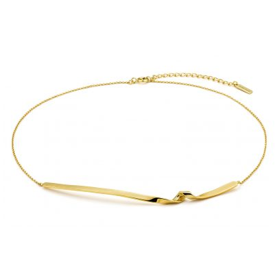 Ania Haie N012-03G Damen-Kette Silber 925 Goldplattiert Twist 5052469205811
