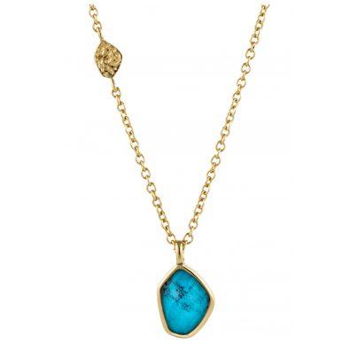 Ania Haie N014-02G Damen-Halskette Silber Goldplattiert Turquoise 5052469000423