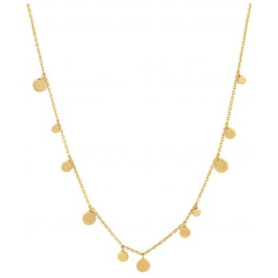 Ania Haie N005-01G Damen-Collier Silber Goldplattiert Geometry Mixed Discs 5052469201431