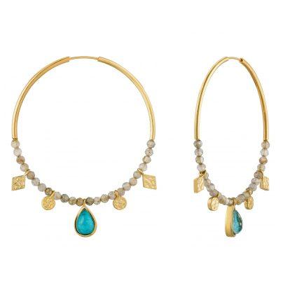 Ania Haie E014-05G Damen-Ohrringe Turquoise Labradorite 5052469000386