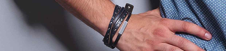 Leder-Armbänder für Herren