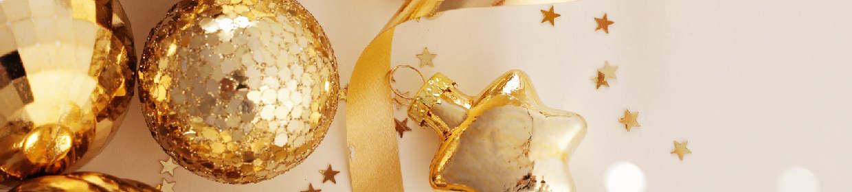 Weihnachtsgeschenke im Glamour-Look
