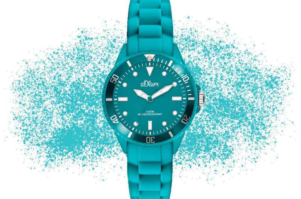 Türkise Uhren